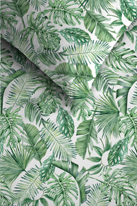 Ambiante Dekbedovertrek Monstera green katoen 260 x 220 cm-Artikeldetail