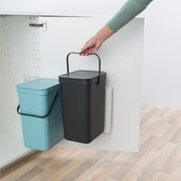 Brabantia Inbouwafvalemmer Sort & Go mint/grijs 2 x 12 l-Artikeldetail