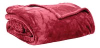 Tiseco Home Studio Plaid Soft uni rouge microflanelle 220 x 240 cm