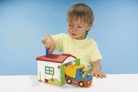 PLAYMOBIL 1.2.3 70184 Ouvrier avec camion et garage-Image 2