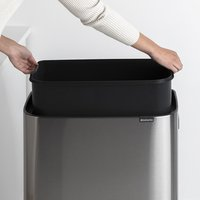 Brabantia Poubelle Touch Bin Bo Hi matt steel fingerprint proof 60 l-Image 3
