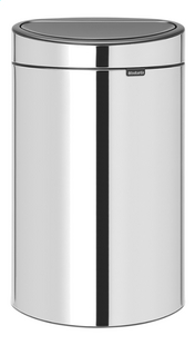 Brabantia Afvalemmer Touch Bin New brilliant steel 40 l-Vooraanzicht