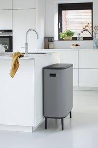 Brabantia Afvalemmer Touch Bin Bo Hi mineral concrete grey 2 x 30 l-Afbeelding 4