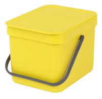 Brabantia Afvalemmer Sort & Go geel 6 l