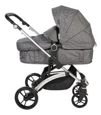 Dreambee Poussette Essentials smokey grey-Côté gauche