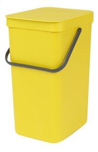 Brabantia Afvalemmer Sort & Go geel 16 l -Vooraanzicht