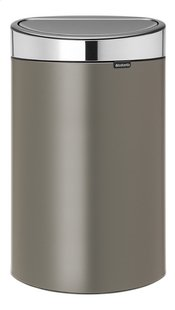 Brabantia Afvalemmer Touch Bin platinum 40 l-Vooraanzicht