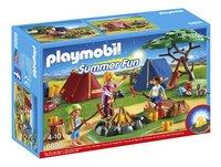 PLAYMOBIL Summer Fun 6888 Tentenkamp met kampvuur-Vooraanzicht
