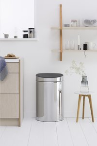 Brabantia Afvalemmer Touch Bin New brilliant steel 40 l-Afbeelding 2