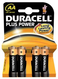 Duracell 4 piles AA Plus Power