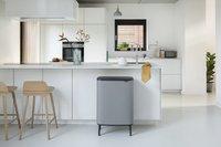 Brabantia Afvalemmer Touch Bin Bo Hi mineral concrete grey 2 x 30 l-Afbeelding 8