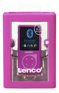 Lenco mp4-speler Bluetooth MP-208 8 GB roze-Vooraanzicht