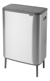 Brabantia Poubelle Touch Bin Bo Hi matt steel fingerprint proof 60 l-Côté droit
