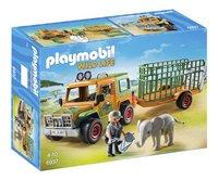 Playmobil Wild Life 6937 Véhicule avec éléphanteau et soigneurs