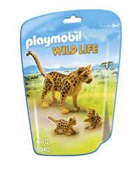 Playmobil Wild Life 6940 Luipaard met welpen-Vooraanzicht