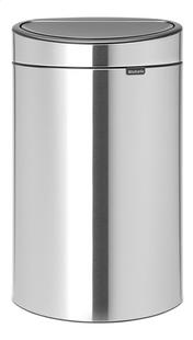 Brabantia Afvalemmer Touch Bin matt steel fingerprint proof 40 l-Vooraanzicht
