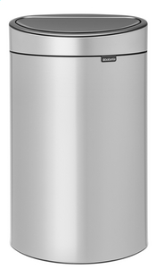 Brabantia Poubelle Touch Bin New metallic grey 40 l-Avant
