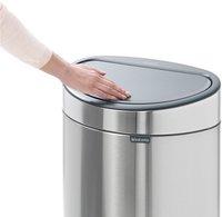 Brabantia Afvalemmer Touch Bin matt steel fingerprint proof 40 l-Afbeelding 1