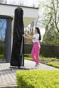 Outdoor Covers beschermhoes voor parasol polypropyleen L 220 x B 40 cm-Afbeelding 1