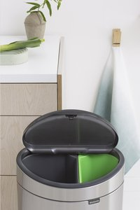Brabantia Afvalemmer Touch Bin Next Recycle matt steel FPP 10/23 l-Afbeelding 2
