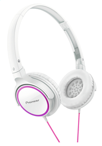 Pioneer casque SE-MJ512 blanc/rose