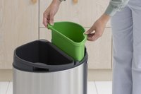 Brabantia Afvalemmer Touch Bin Next Recycle matt steel FPP 10/23 l-Afbeelding 3