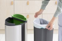 Brabantia Afvalemmer Touch Bin Next Recycle matt steel FPP 10/23 l-Afbeelding 4