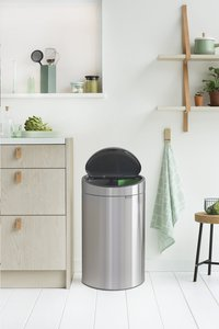 Brabantia Afvalemmer Touch Bin Next Recycle matt steel FPP 10/23 l-Afbeelding 6