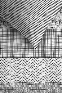 Ambiante Housse de couette Hadley black coton 240 x 220 cm-Détail de l'article