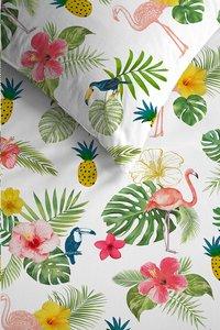 Ambiante Dekbedovertrek Tropical flamingo katoen 200 x 220 cm-Artikeldetail