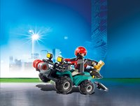 Playmobil City Action 6879 Bandiet en quad met lier-Afbeelding 1