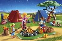 Playmobil Summer Fun 6888 Tentes avec enfants et animatrice-Image 1