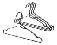 Brabantia Kleerhanger met inkepingen aluminium zwart - 4 stuks-Rechterzijde