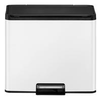 Eko Pedaalemmer Essential Recycler wit 9 l + 20 l-Vooraanzicht