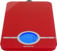 Brabantia digitale keukenweegschaal Essential rood -Artikeldetail