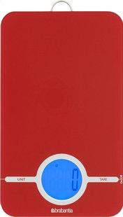Brabantia digitale keukenweegschaal Essential rood