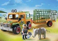 Playmobil Wild Life 6937 Ranger terreinwagen met olifant-Afbeelding 1
