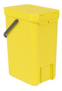 Brabantia Poubelle Sort & Go jaune 12 l-Arrière