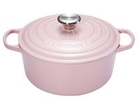 Le Creuset ronde stoofpan Signature chiffon pink 24 cm - 4,2 l-Vooraanzicht