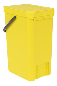 Brabantia Afvalemmer Sort & Go geel 16 l -Achteraanzicht