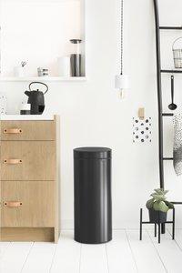 Brabantia Afvalemmer Touch Bin New matt black 30 l-Afbeelding 1