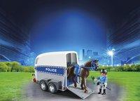 PLAYMOBIL City Action 6922 Bereden politie met trailer-Afbeelding 1