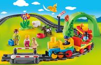 PLAYMOBIL 1.2.3 70179 Train avec passagers et circuit-Image 1