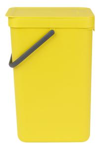 Brabantia Afvalemmer Sort & Go geel 16 l -Rechterzijde