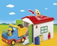 PLAYMOBIL 1.2.3 70184 Ouvrier avec camion et garage-Image 1
