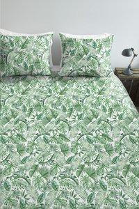 Ambiante Dekbedovertrek Monstera green katoen 260 x 220 cm-Afbeelding 1