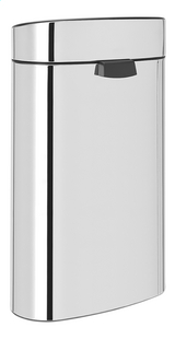 Brabantia Afvalemmer Touch Bin Recycle brilliant steel 10/23 l-Achteraanzicht