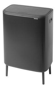 Brabantia 30 Liter Touch Bin.Brabantia Afvalemmer Touch Bin Bo Hi Matt Black 2 X 30 L