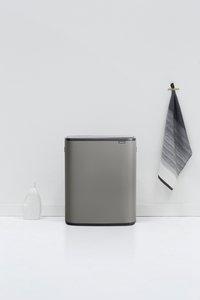 Brabantia Poubelle Touch Bin Bo mineral concrete grey 60 l-Image 1