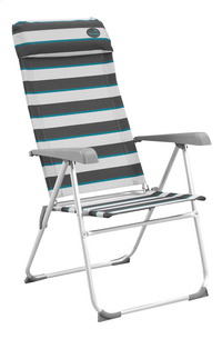 Easy Camp Chaise de camping Capella gris/bleu/gris clair